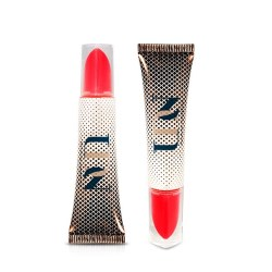 Delta Tube features a unique applicator shape mimicking a traditional lipstick bullet shape.
